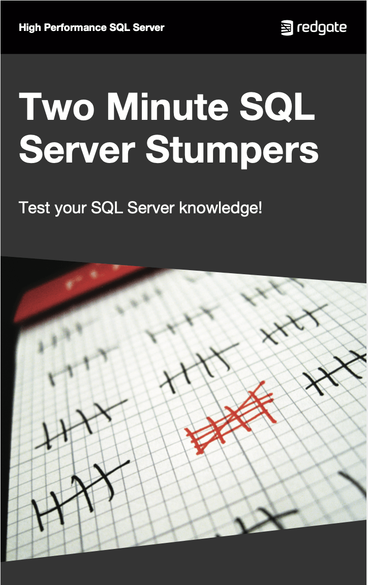 Two Minute SQL Server Stumpers eBook cover