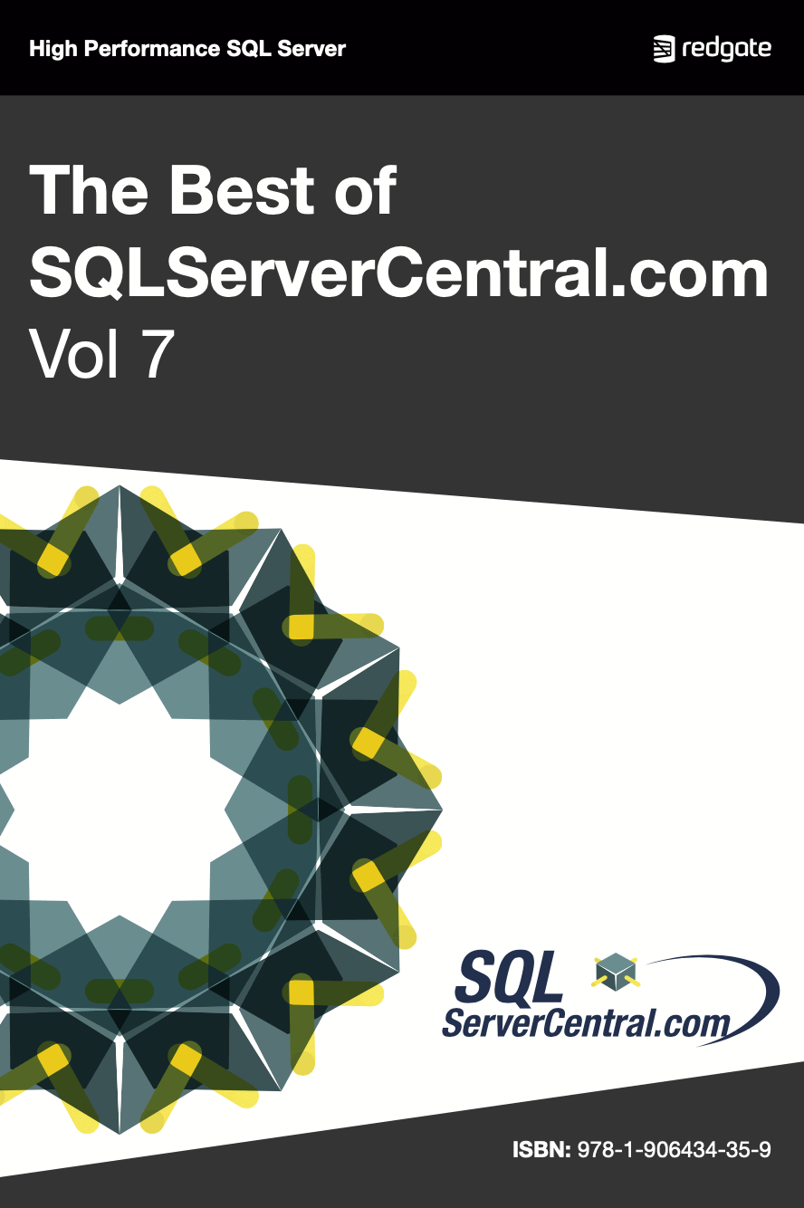 The Best of SQL Server Central Volume 7 eBook cover