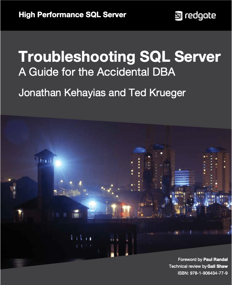 Troubleshooting SQL Server A Guide for the Accidental DBA eBook cover