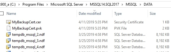 Certificates in the file system