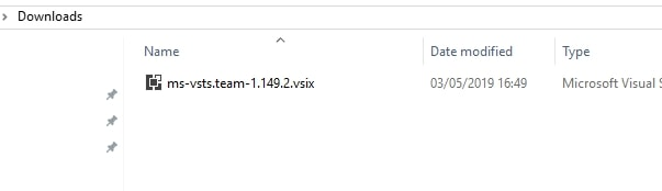 Extension downloaded in Explorer