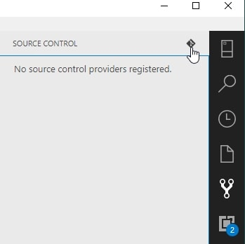 ADS Source Control pane