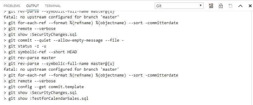 ADS Git output