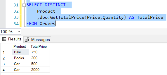 New Select query