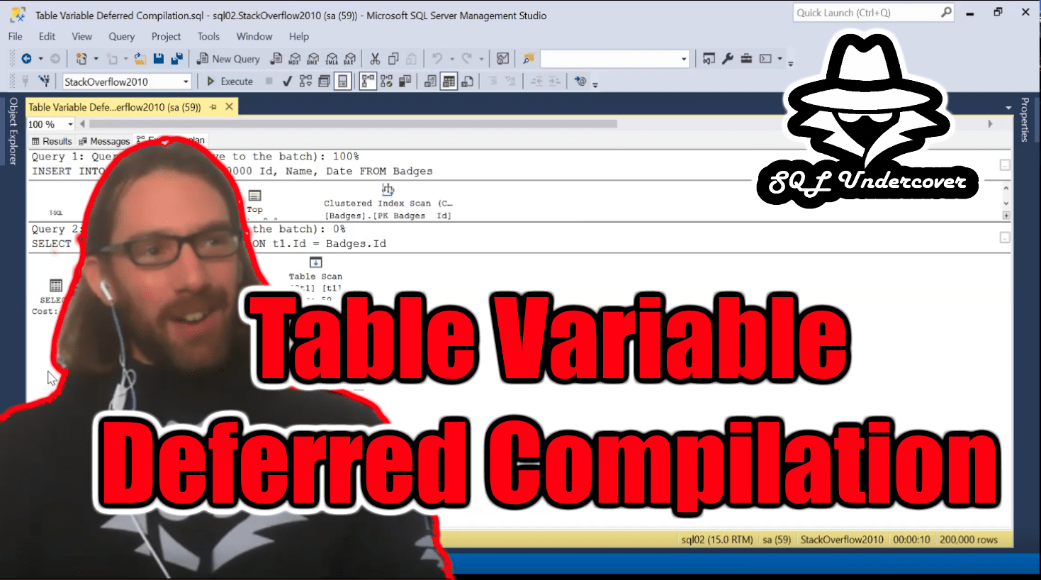 Table Variable Deferred Compilation screenshot