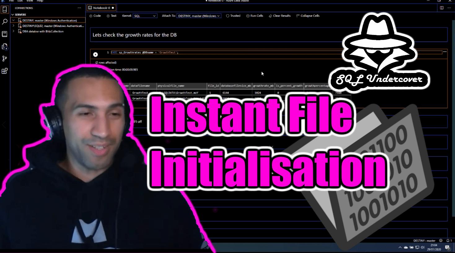 Instant File Initialisation Screenshot