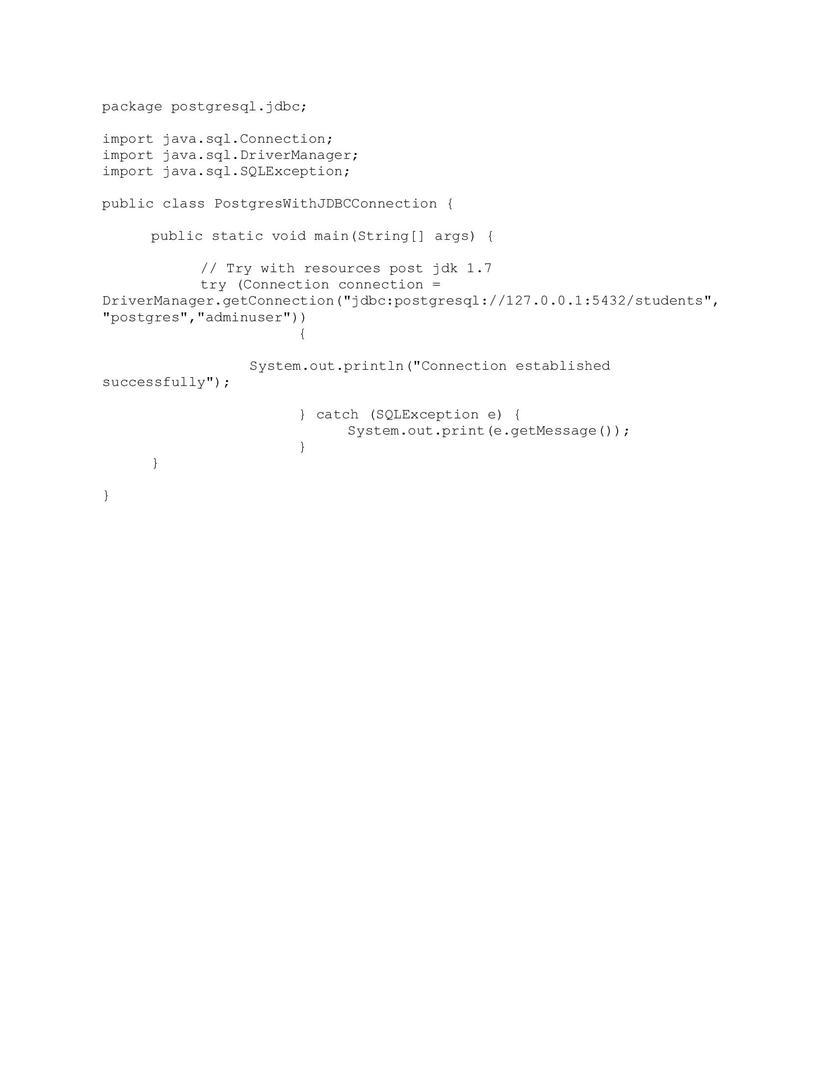 JDBC-Connection