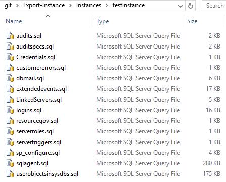 exportdbainstance_togit_folderout