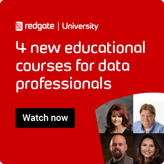 Advert for four new educational courses for data professionals