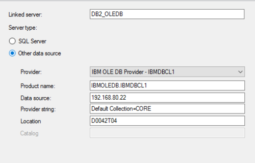 Create a Linked Server Using IBM OLEDB Provider – SQLServerCentral