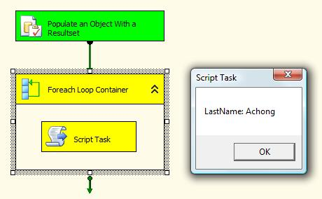 SSIS 101: Object Variables, ResultSets, and Foreach Loop Containers