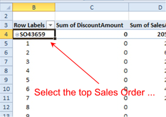 Select the Top Left Work Order Cell