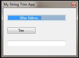 c# trim