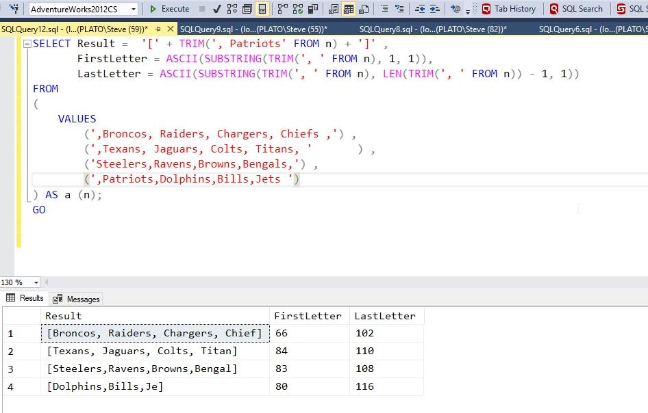 TRIM() in T-SQL – SQLServerCentral
