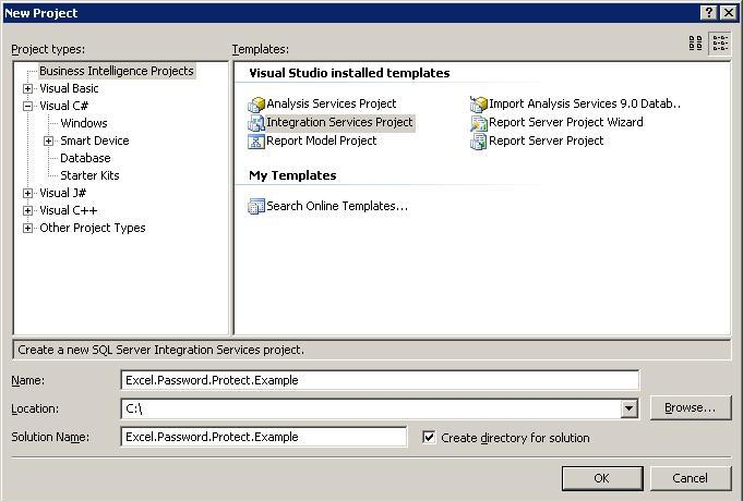 Protect the Excel files generated by SSIS package-Part I