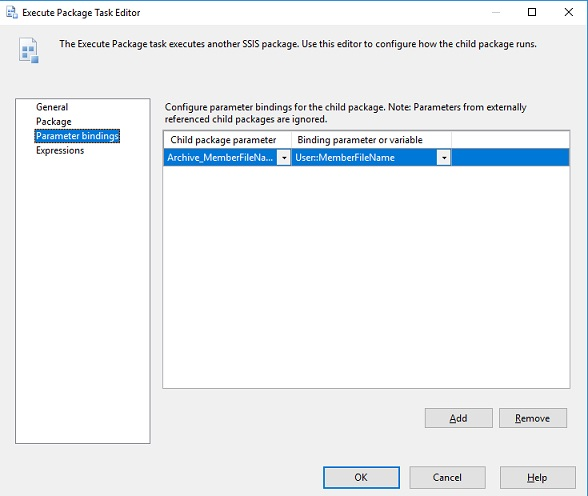 Execute Package Task