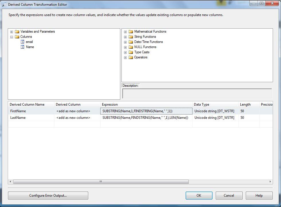 SSIS Basics: Data cleansing using derived columns – SQLServerCentral