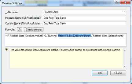 A PowerPivot Error