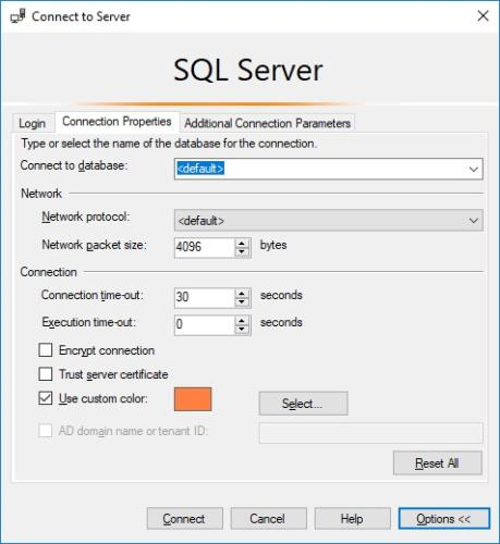 Connection properties save location – SQLServerCentral