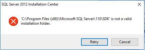 Not a valid installation folder – SQLServerCentral