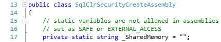 Stairway to SQLCLR - Level 3, CreateAssemblyCheck.cs: lines 13 - 17