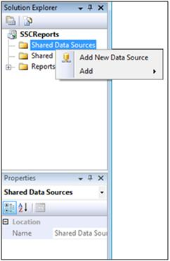 New Data Source from Solution Explorer
