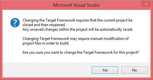 28_ProjectProperties-SQLCLR-ChangingTargetFrameworkWarning