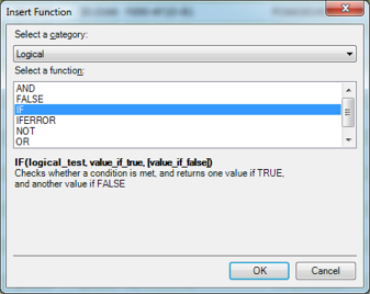 Select the IF() Function
