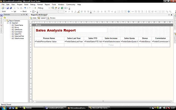 Conditional formatting with Reporting Services – SQLServerCentral