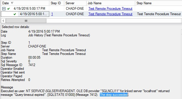 Forcing SQL Agent Jobs to Fail When Remote Procedures