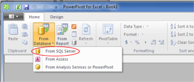 Select From SQL Server in the From Database Dropdown