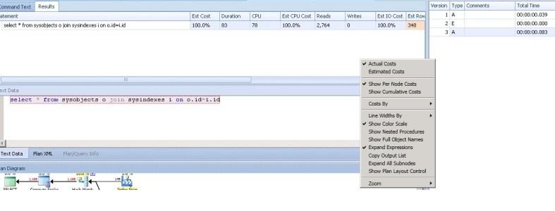 Reading execution plan sql server use of Plan Explorer