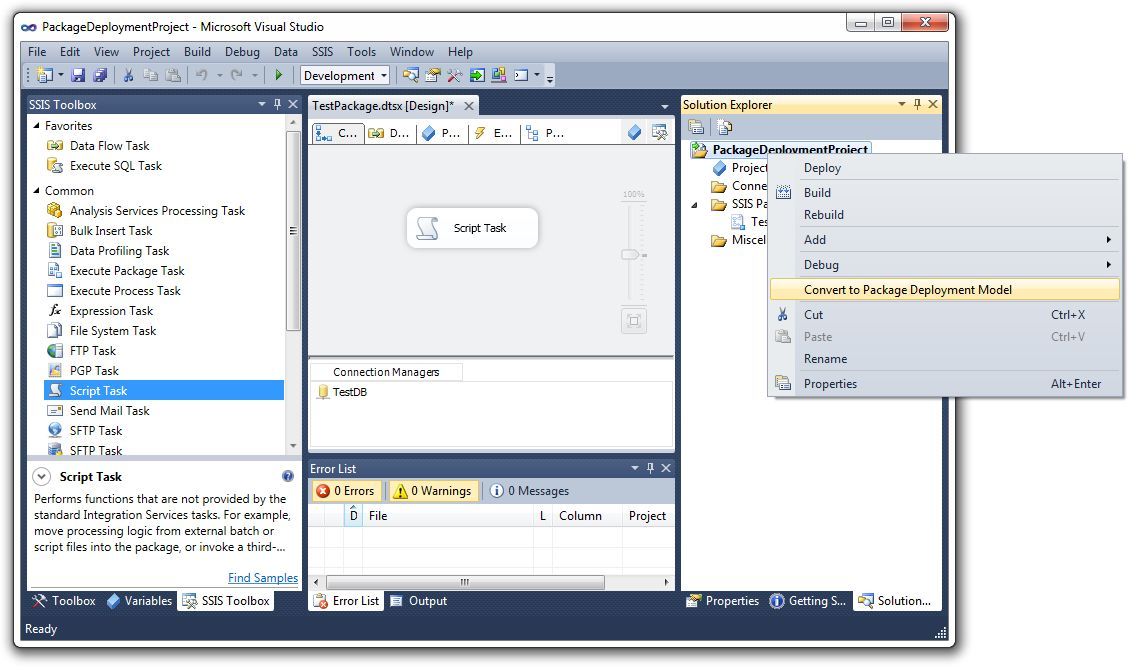 How to execute an SSIS package from the command line or a batch file