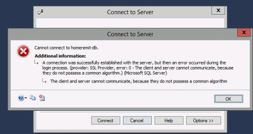 Unable to connect from SQL Server Management studio 2016 to SQL