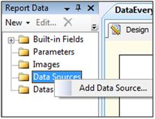 Report Data Pane